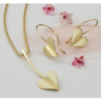 Love Grows 9ct Gold Heart Pendant Necklace, Gold