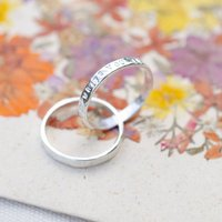 Personalised Simple Infinity Russian Band Ring
