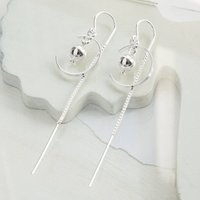 Sterling Silver Cusp And Ball Threader Earrings, Silver