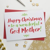Christmas Card For Wonderful Godmother