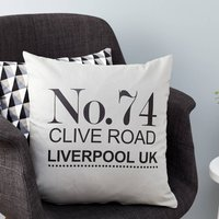 Personalised House Number Cushion