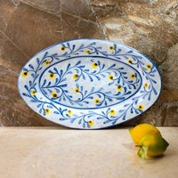 Hand Painted Large Oval Platter