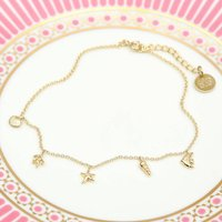 Personalised Silver Or 18ct Gold 'Under The Sea' Anklet, Silver