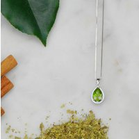 Pear Drop Peridot Necklace