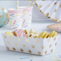 Gold Foiled Polka Dot Food Treat Trays