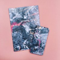 Grey Marble iPhone Case And Notebook