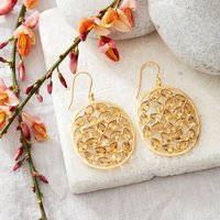 Citrine Faceted Oval Drop Earrings