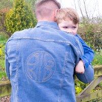 Big Kid Embroidered Men's Denim Jacket
