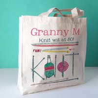 Personalised Knit Wit Bag