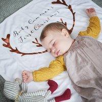 Personalised Antler Baby Blanket