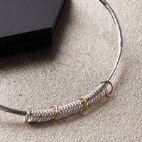 30th Birthday Bangle In 9ct Gold And Sterling Silver, Silver