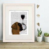 Boxer Print, Dog Au Vin Book Print