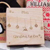 Personalised Bauble Large Christmas Eve Box