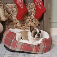 Tweedy Red Check Country Oval Sofa Bed S/M