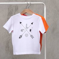 Personalised Arrow 'Hand Drawn' Hobbies Child T Shirt