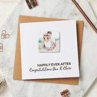 Personalised Wedding Photo Magnet Card