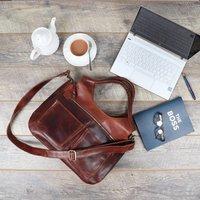 Leather Weekend Holdall Bag, Brown