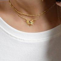 Sunrise Labradorite Semi Precious Necklace