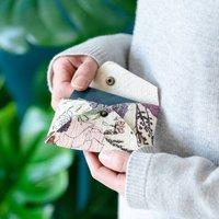 Piñatex Floral Print Card Holder