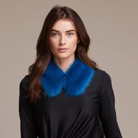 Luxury Faux Fur Shirt Collar, Ebony/Truffle/Lilac