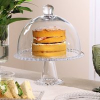 Home Baking Glass Cake Stand With Dome Lid