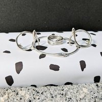 Silver Protective Snake Jewellery Set, Silver