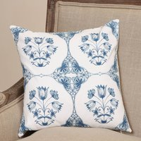 China Blue Floral Patterned Cushion Cover
