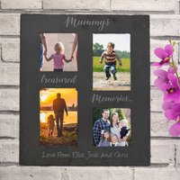 Personalised Collage Slate Photo Frame For Mum