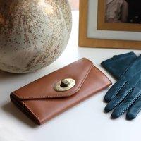 Womens Leather Purse, Caramel Tan