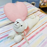 Hand Knitted Lazy Lizzie Polar Bear Personalised