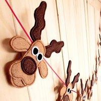 Handmade Felt Santa, Rudolph And Reindeer Bunting