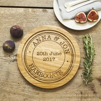 Special Occasion Personalised Oak Wood Chopping Board