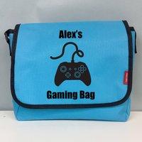 Personalised Childs Gaming Messenger Bag