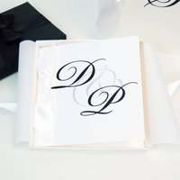 Personalised Diamond Wedding Anniversary Card Monogram