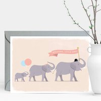 Welcome, Little One! Elephant Parade Greeting Card