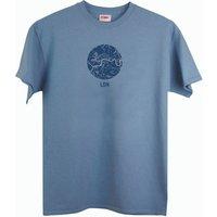 Men's London Map Stone Blue T Shirt