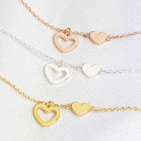 Mismatched Heart Necklace