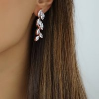 Rose Gold Crystal Statement Rhinestone Earrings, Gold