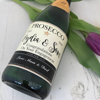Personalised Engagement Prosecco Champagne Label