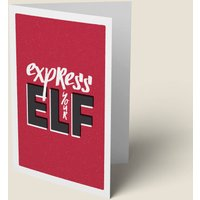 'Express Your Elf' Funny Christmas Card