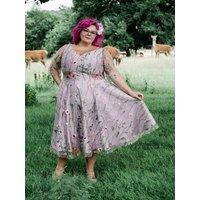 Lilac Botanical Lace Dress, Plus Sizes Availables
