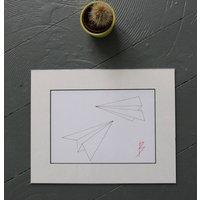 Origami Paper Planes Original Drawing