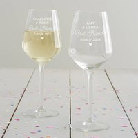 Personalised Best Friends Wine Glass
