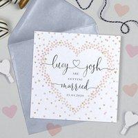 Confetti Heart Wedding Invitation
