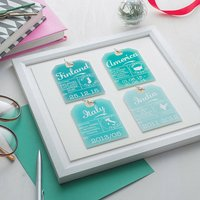 Four Personalised Luggage Tags