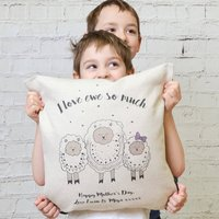 Family Sheep Personalised Cushion Cover