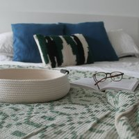 Pure White Cotton Rope Tray