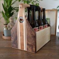 Luxury Wooden Beer Caddy