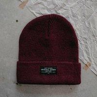 Burgundy 'The Adventurer' Beanie Hat