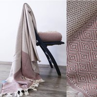 Diamond Pattern Throw Blanket